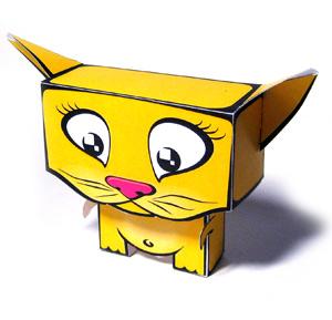 кошка -  игрушка из бумаги