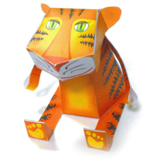 символ  нового года тигр из бумаги