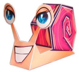 игрушка из бумаги улитка паперкрафт